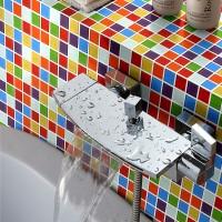 Rainbow Color Candy 25X25 Mosaic Tiles Home Natural Design Mirror Tile
