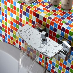 Rainbow Color Candy 25X25 Mosaic Tiles Home Natural Design Mirror Tile