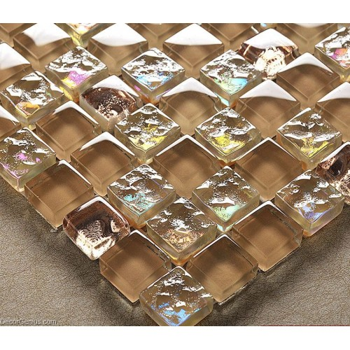 Ice Cracked Crystal Glass Grey Tile Home Floor Bathroom Diamond Mosaic Tiles