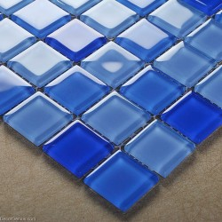 Hot Sales Blue Swimming Pool Wall Tiles DGGM062 Glass Backsplash Glass Tile Mosaics