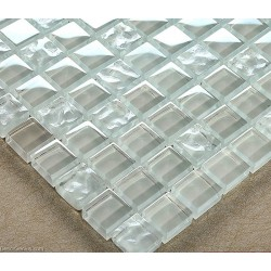 Crystal Transparent Glass Tile Resin Mosaic Bathroom Tiles Decor