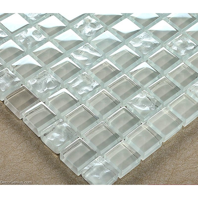 Glass Tiles In Bathroom: Crystal Transparent Glass Tile Resin Mosaic Bathroom Tiles