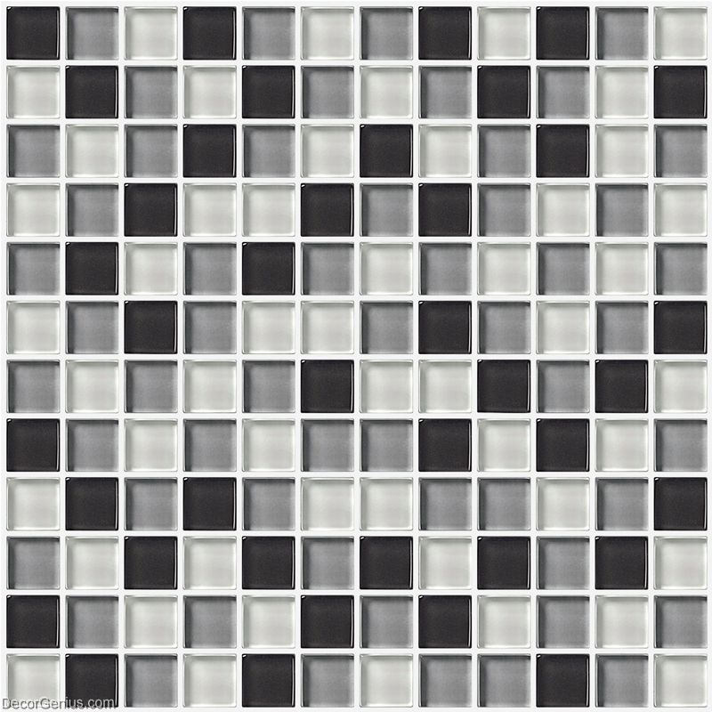Wall Tile Stickers Bathroom Tile Black Grey White Glass