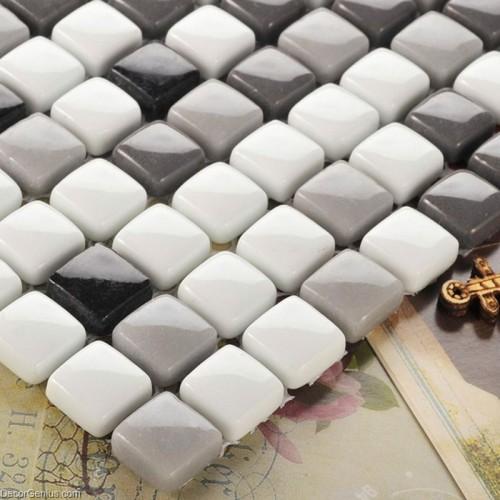 Classic Popular Backsplash Wall Tiles 3D Design Home Mosaic Glass Tile
