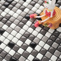 Classic Popular Backsplash Wall Tiles 3D Design Home Mosaic Glass Tile