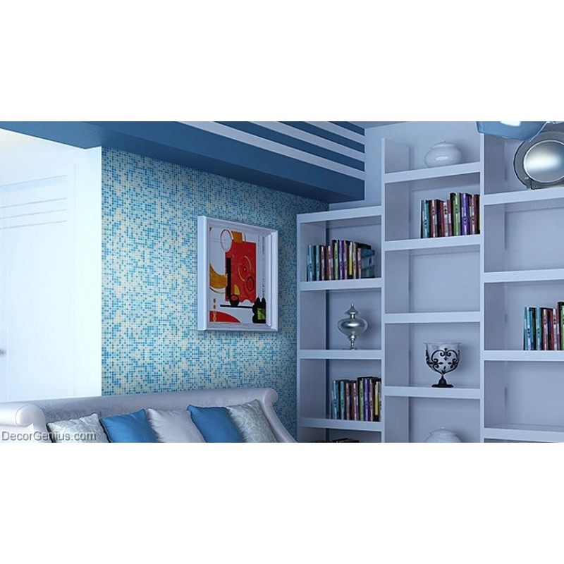 Candy Blue Hot Sales Blend Wallpaper Tiles DecorGenius Navy ...
