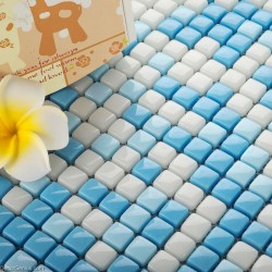 Candy Blue Hot Sales Blend Wallpaper Tiles DecorGenius Navy Natural Glass Floor Tile