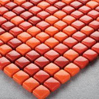 Red Bathroom Tiles Easy Install Home Wall Tile Mosaic Glass Stickers for the Kitchen