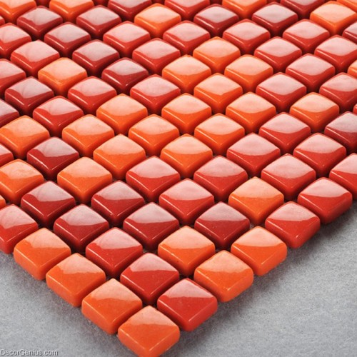 Red Kitchen Wall Tiles: Red Bathroom Tiles Easy Install Home Wall Tile Mosaic