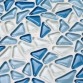 Crystal Blue Pebble-Style Home Decor Wall Tile Modern Backsplash Kitchen 3D Blend Mosaic Tiles