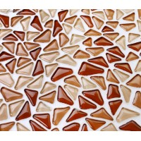 Irregular Chip Red Natural Glass Mosaic Decorative Tile Pink Kitchen Countertop Floor Tiles