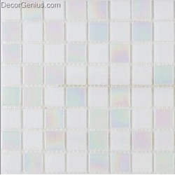 Pure White Reflection Glass Diamond Mosaic Tile DGGM075 Free Shipping Cheap China Mosaic Tiles