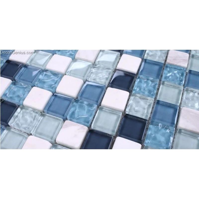 Classic Popular Ice Cracked Flower Blue Ktv Front Desk Countertop