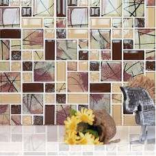Crystal 3D Mirror Home Decoration Wall Tile 300X300 Sheet Front Desk Mosaic Glass Tiles