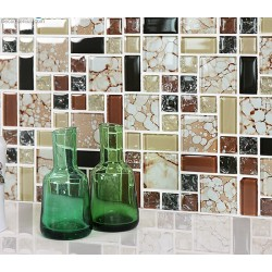 Bubble Pattern Mosaic Kitchen Wall Tile DGGM083 Bathroom Tiles Front Desk Glass Mosaic