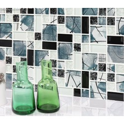 Ice Cracked Winter Season Design Wall Tile Mosaic DGGM084 Crystal Mirror Mosaic Tiles