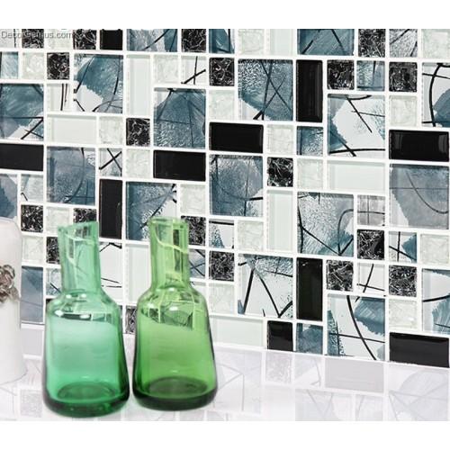 Ice Cracked Winter Season Design Wall Tile Mosaic Dggm084