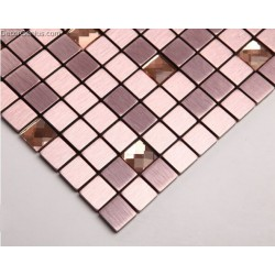 Purple Pink Aluminum Mosaic Tiles Metal Mosaic Tile Sheets Self Adhesive Tiles Building Materials Tiles