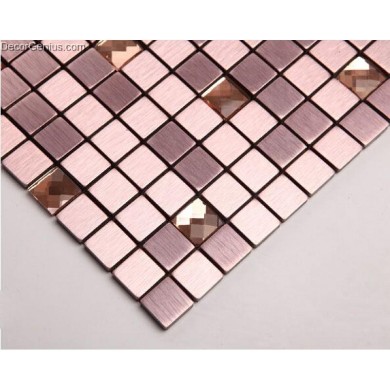 Aluminum Mosaic Tiles Metal Tile