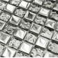 Metal Plating Silver Mosaic Tiles Home Improvement Kitchen Tile