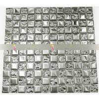 Metal Plating Silver Mosaic Tiles Home Improvement Kitchen Tile