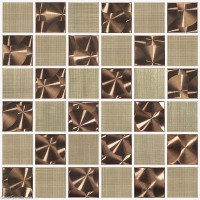 Metal Stainless Steel Wall Tile Bathroom Copper Mosaic Tiles DGMM009