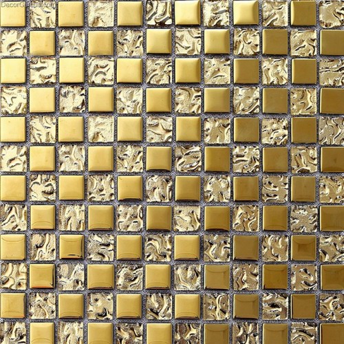Yellow Electroplate Galvanize Tile Kitchen Mosaic Tiles DGMM013 Free Shipping Home Building D?cor
