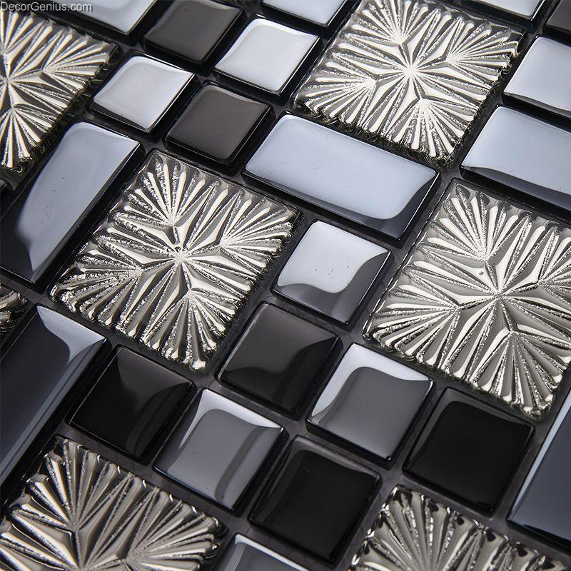 Galvanized 3d Metalic Discount Backsplash Kitchen Mosaic Tile