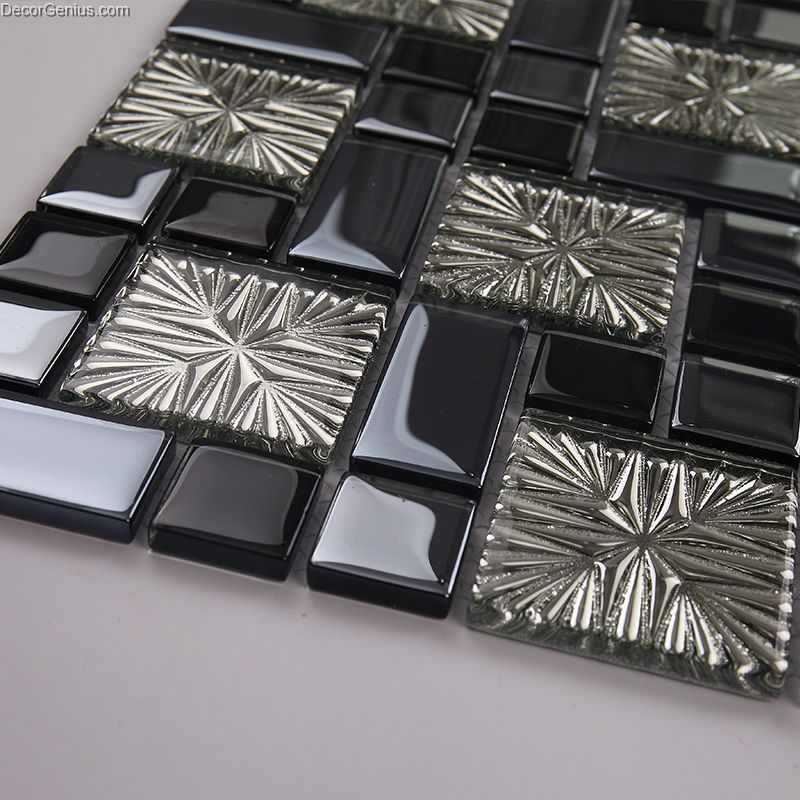 galvanized 3d metalic discount backsplash kitchen mosaic tile pics photos glass mosaic discount tile kitchen