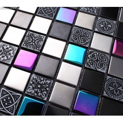 Pink Crystal Decorative Metal Tile Backsplash Galvanized Floor Wallpaper Mosaic Tiles