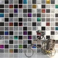 Pink Crystal Decorative Metal Tile Backsplash Galvanized Floor Wallpaper Mosaic Tiles