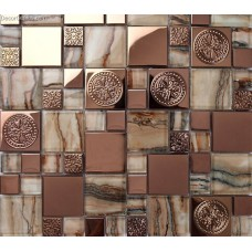China Cheap Tile Metal Mosaic Floor Galvanized Metal Aluminum Plate Mosaic Tiles