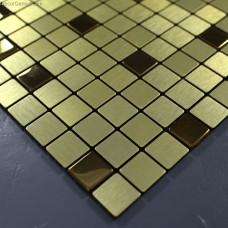 Amber Metal Mosaic Tile Metrical Design Floor Tiles