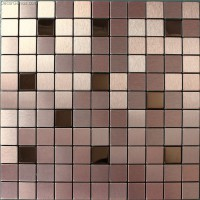 Self Adhesive Metal Cheap Wall Tiles DGMM019 Aluminum 3D Design Bathroom Mirror TV Tile