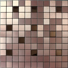 Self Adhesive Metal Cheap Wall Tiles DGMM019 Aluminum 3D Design Bathroom Mirror TV Tile