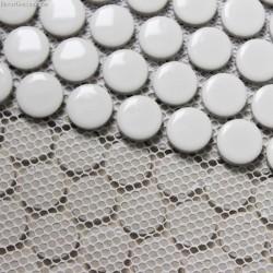 Pure White Round Natural Pebble Stone Mosaic Tile
