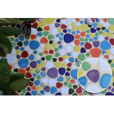 [Out of Stocks] Colourful Rainbow Pebble Mosaic Fashion Tile