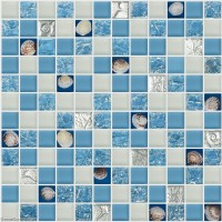 Natural Shell Mosaic Tile Hand Made Glass Mother of Shell Backsplash Bathroom Tiles DGSM002