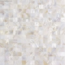 Natural Shell Mosaic Tile Living Room Walltile Stickers Mother of Pearl Pure White Tiles