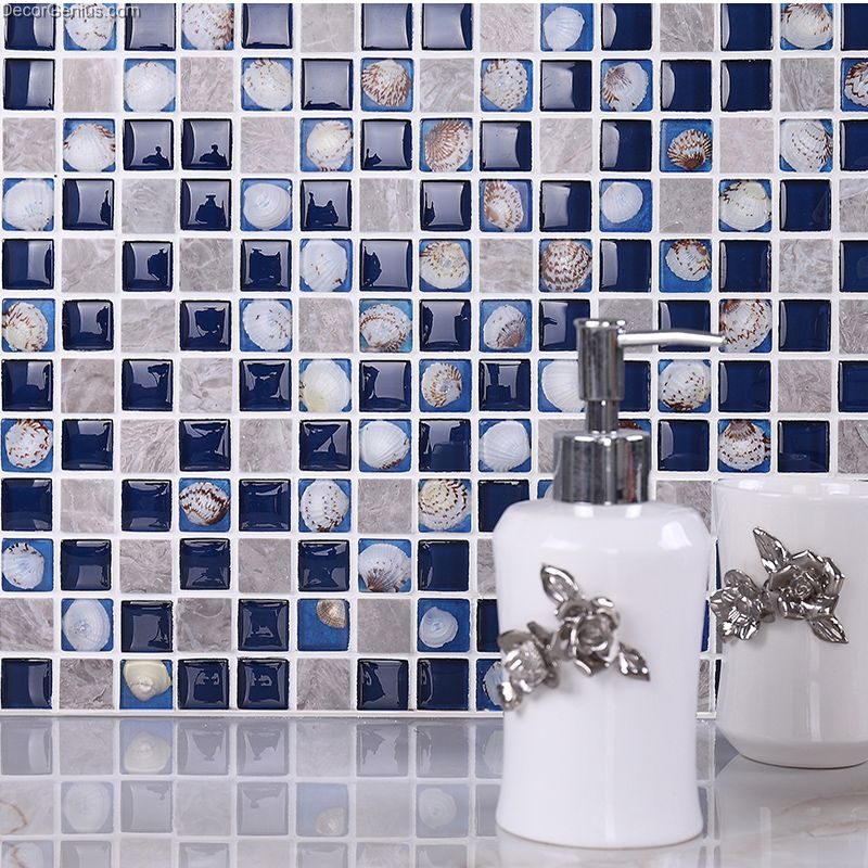 Blue Mosaic Kitchen Backsplash