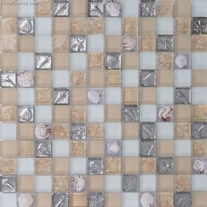 Home Mosaic Tiles Decoration Mother of Shell Ice Cracked Wall Stickers Bathroom Tile