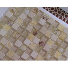 3D Popular 11 Sheets Ice Cracked Pure White Mosaic Shell Tile Free Shipping Tiles
