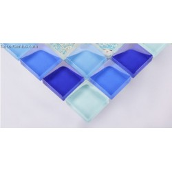 Mother of Shell Mixed Diamond Glass Kitchen Baqcksplash Handmade Decoration