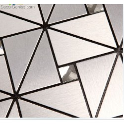 Silver White Stainless Steel Mosaic Tiles Home Improvement Backsplash Aluminium Mosaic Wall Tile