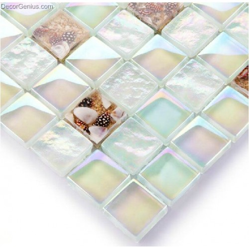 Vivid White Natural Sea Shell Mosaic Tiles Mother of Shell Free Shipping Sea Glass Mosaic Kitchen Wall Tile