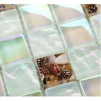 Vivid White Natural Sea Shell Mosaic Tiles Mother of Shell Free Shipping Sea Glass Mosaic Kitchen Wall Tile