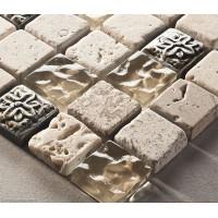 Resin Stone Blend Wall Tile 300X300 Mosaic 11 Sheets Hot Sale Kitchen Backsplash Tiles