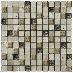 Resin Stone Blend Wall Tile 300X300 Mosaic 11 Sheets Hot Sale Kitchen Backsplash Tiles