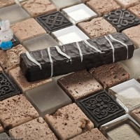 DGWH021 Resin Glass Tiles Mixed Kitchen Backsplash Mosaic Tile Home Decoration