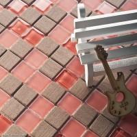 Red Floor Tiles Home Kitchen Backplash Brown Wall Tiles 3D Mirror Mosaic Tiles DGWH026